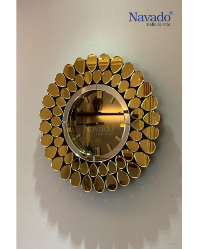 Đồng hồ gương nghệ thuật Gold Peacock