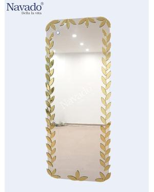 Gương toàn thân AMazon vàng 60*180cm