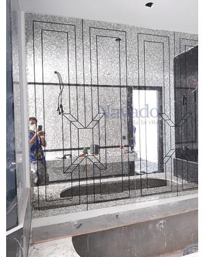 Gương ghép tường màu Khói độc đáo