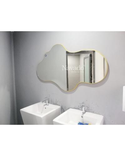 Gương decor nhà tắm Island