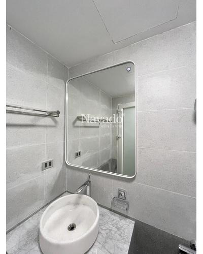Gương vành thép trắng chữ nhật