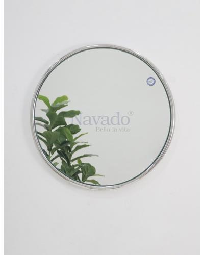 Gương tròn inox bạc cao cấp D60